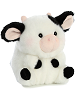 Daisy Cow Rolly Pets Stuffed Animal by Aurora World (Rotated)