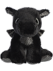 Rogue Black Dragon Sparkle Tales Stuffed Animal (Front)