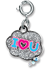 CHARM IT! I Heart U Bubble Charm by High IntenCity