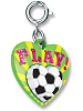 CHARM IT! Play Soccer Heart Charm by High IntenCity (Rotated View)