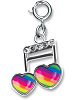 CHARM IT! Rainbow Music Note Charm by High IntenCity