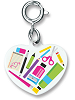 CHARM IT! I Love Art! Heart Charm (Back) by High IntenCity