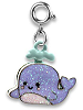 CHARM IT! Glitter Whale Charm by High IntenCity (Front)
