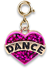 CHARM IT! Glitter Dance Heart (Gold-Tone) Charm