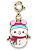CHARM IT! Snowman Swivel (Gold-Tone) Charm by High IntenCity