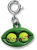 CHARM IT! Best Friends Peapod Charm (Front)
