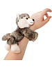 Wolf Huggers Stuffed Animal by Wild Republic (on Wrist)