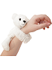 Polar Bear CK Huggers Stuffed Animal by Wild Republic (on Wrist)