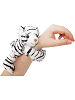 White Tiger CK Huggers Stuffed Animal by Wild Republic (on Wrist)