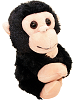 Monkey CK Huggers Stuffed Animal by Wild Republic (Arms Closed)