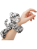 Snow Leopard Huggers Stuffed Animal by Wild Republic (on Wrist)