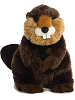 Bucky Beaver Flopsies Stuffed Animal by Aurora World (Front View)