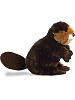 Bucky Beaver Flopsies Stuffed Animal by Aurora World (Side View)
