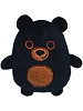 Bo Black Bear Uncommon Woodland Mystery Cutie Beans Plush