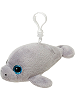 Manatee Glitter Eyes Plush Backpack Clip Stuffed Animal by Fiesta