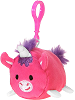 Unicorn Lil' Huggy Plush Backpack Clip Stuffed Animal by Fiesta