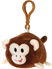 Monkey Lil' Huggy Plush Backpack Clip Stuffed Animal by Fiesta