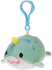 Narwhal Lil' Huggy Plush Backpack Clip Stuffed Animal by Fiesta