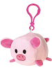 Pig Lil' Huggy Plush Backpack Clip Stuffed Animal by Fiesta