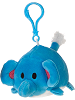 Elephant Lil' Huggy Plush Backpack Clip Stuffed Animal by Fiesta