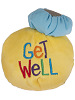 Get Well Smiley Face Tossimals Plush by Ganz (Back)