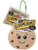 Crumbs Chocolate Chip Cookie Scrumchums Plush Food Keychain Tag