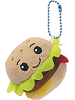 Chuck Deluxe Cheeseburger Ultra Rare Boxed Scrumchums Plush Food Keychain
