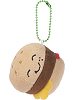 Grill Hambuger Common Boxed Scrumchums Plush Food Keychain
