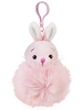 Bunny (Pink) Pom Pom Plush Backpack Clip by Ganz