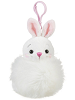 Bunny (White) Pom Pom Plush Backpack Clip by Ganz