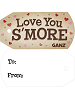 Love You S'more Plush Backpack Clip Tag