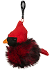 Cardinal Pom Pom Plush Backpack Clip by Ganz