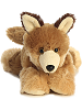 Clever Coyote Mini Flopsies Stuffed Animal by Aurora World (Front View)