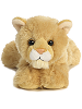 Cougar Mini Flopsies Stuffed Animal by Aurora World (Front View)