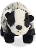 Badger Mini Flopsies Stuffed Animal by Aurora World (Front View)