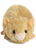 Hamster Mini Flopsies Stuffed Animal by Aurora World (Front View)