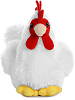 Chicken Mini Flopsies Stuffed Animal by Aurora World (Front View)