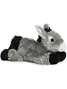 Donkey Mini Flopsies Stuffed Animal by Aurora World (Side View)