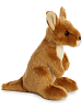 Kangaroo Mini Flopsies Stuffed Animal by Aurora World (Side)