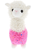 Sparkle Llama (Pink) Stuffed Animal by DolluBu (Front)