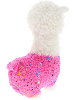 Sparkle Llama (Pink) Stuffed Animal by DolluBu (Rotated)