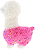 Sparkle Llama (Pink) Stuffed Animal by DolluBu (Side)