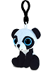 Panda Big Eyes Plush Backpack Clip Stuffed Animal (Rotated Left)