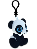 Panda Big Eyes Plush Backpack Clip Stuffed Animal (Rotated Right)