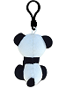 Panda Big Eyes Plush Backpack Clip Stuffed Animal (Back View)