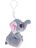 Elephant (Gray) Big Eyes Plush Backpack Clip Stuffed Animal (Side View)