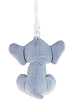 Elephant (Gray) Big Eyes Plush Backpack Clip Stuffed Animal (Back View)