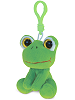 Frog Big Eyes Plush Backpack Clip Stuffed Animal by Puzzled