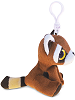 Red Panda Big Eyes Plush Backpack Clip Stuffed Animal (Side)