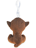Monkey (Brown) Big Eyes Plush Backpack Clip Stuffed Animal (Back)
